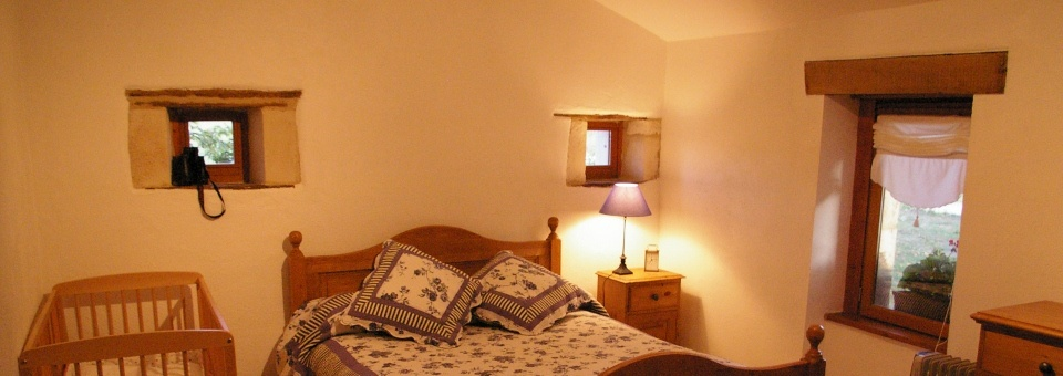 the ground floor bedroom in the cottage, ideal for those less mobile
